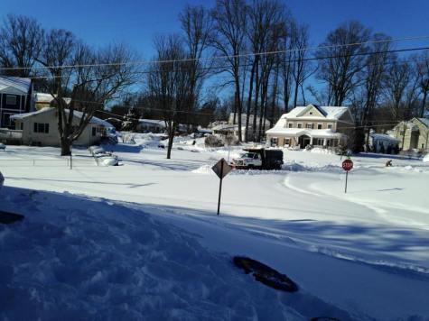 Snow Plow Stuck in Northern Virginia