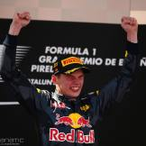 Race winner Max Verstappen (NLD) Red Bull Racing celebrates on the podium. 15.05.2016. Formula 1 World Championship, Rd 5, Spanish Grand Prix, Barcelona, Spain, Race Day. - www.xpbimages.com, EMail: requests@xpbimages.com - copy of publication required for printed pictures. Every used picture is fee-liable. © Copyright: Batchelor / XPB Images