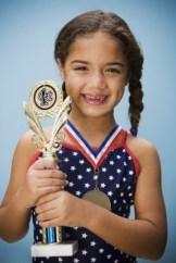 Girl with Award