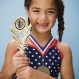 Girl with Award