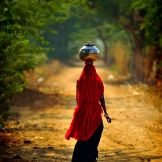 Indian Women Water Pot