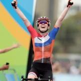 Winning Rio Gold in Cycling.