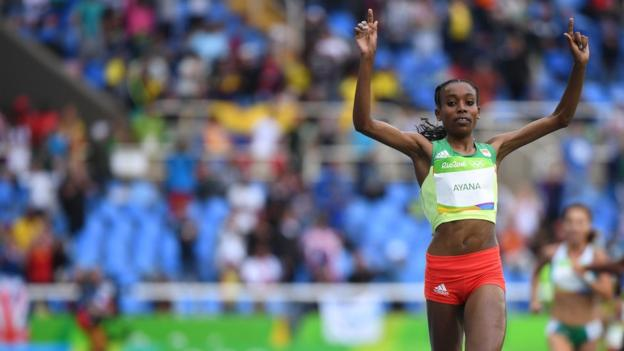 Ethiopia's Almaz Ayana won gold in the women's 10,000m