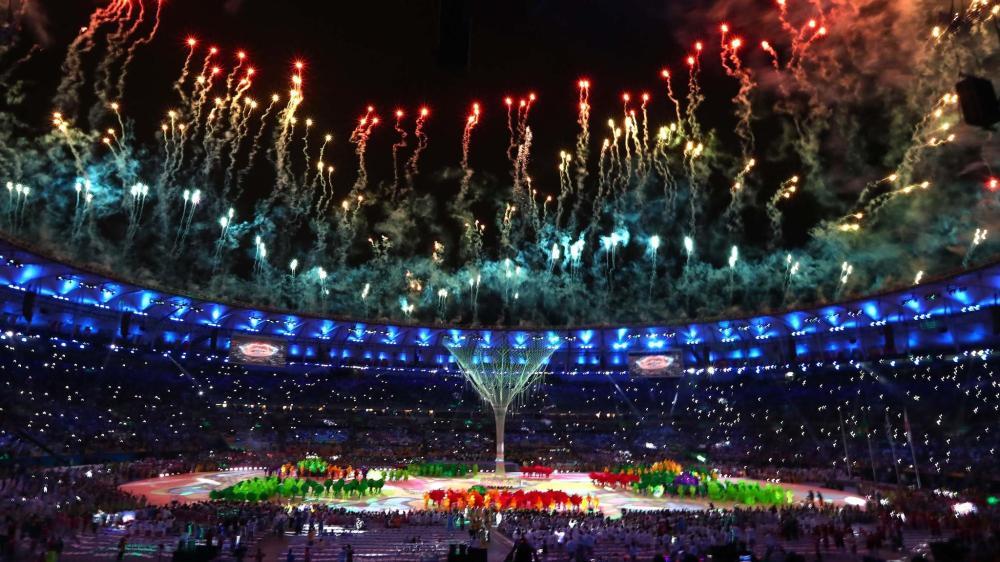 Fireworks at Rio Closing Cermony