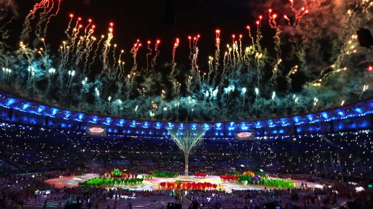 Fireworks at Rio Closing Cermony