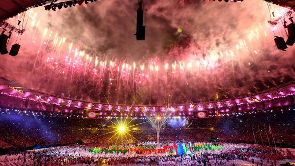 Fireworks Rio Closing Cermony