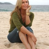 Heloísa Pinheiro, the girl from Ipanema, on the beach.