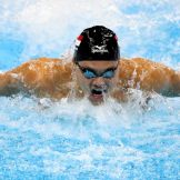 Singapore's Joseph Schooling beats Michael Phelps for the 100m butterfly win in Rio 2016.