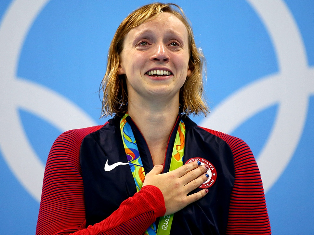 An Emotional Katie Ledecky