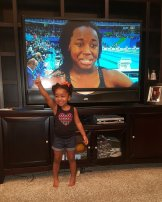 "Two-year old Layla McKenzie, inspired by Simone Manuel, says ""I Got Next!"""