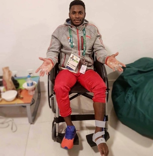 Manrique Larduet still smiling despite pulling out of the all-around in Rio 2016 due ankle injury.