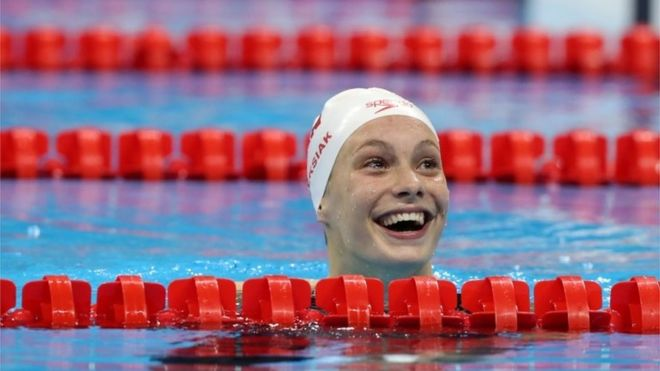 Penny Oleksiak 100m Gold