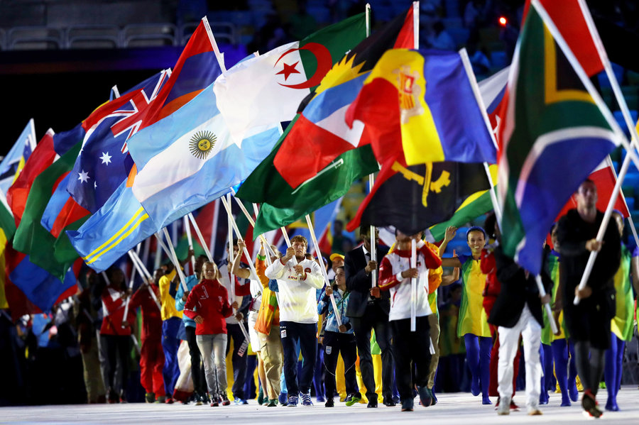 Rio 2016 Flags Closing Ceremony