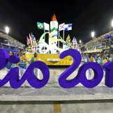 The Rio 2016 letters in the now iconic font of the games.