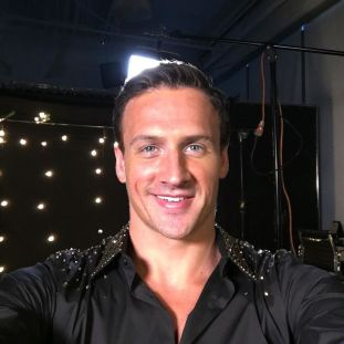 Ryan Lochte getting ready to show his moves out of the pool for Dancing With The Stars season 23.