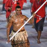 One of the first Olympic moments to go viral happened when Pita Taufatofua, Tonga's flag-bearer, appeared at the opening ceremony. The taekwondo athlete emerged topless, wearing traditional Tongan dress and apparently covered in baby oil. It did not go unnoticed. Photo Credit: BBC