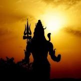 Lord Shiva at Himalayan Mount Kailasha. Hindu God of Meditation and Yoga.