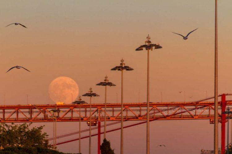 Lisbon, Portugal Super Moon