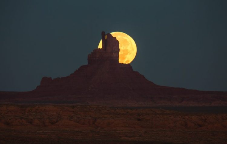 Monument Valley Super Moon