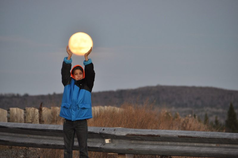 New Brunswick, Canada Super Moon