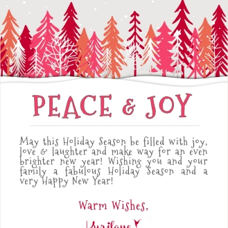Wishing you peace & joy!